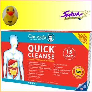 Carusos Natural Health Quick Cleanse  Day Detox Program Probiotic